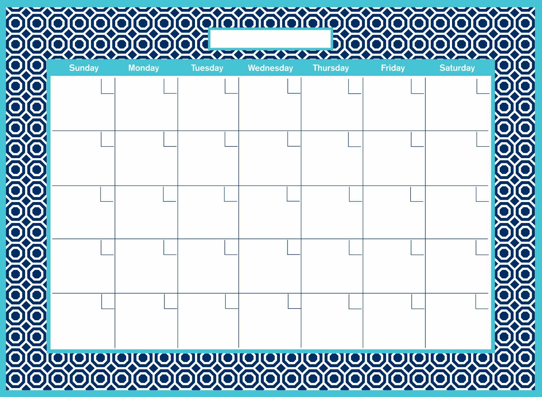 WallPops Honeycomb Dry Erase Monthly Calendar