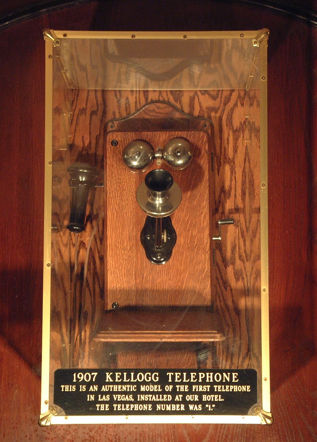"In 1907, Las Vegas' first telephone is installed at the Golden Gate. The phone number? ""Ring `1,' please."""