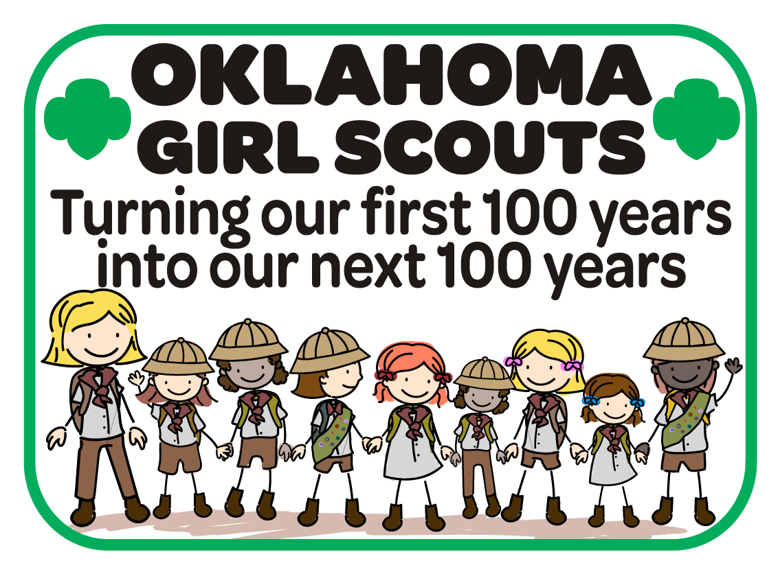 Kara White, a 14 year old Girl Scout from Broken Arrow won the patch design contest hosted in honor of Girl Scouts serving the girls of Oklahoma for 100 years.  Her patch design will be reproduced as a commemorative Girl Scout patch that can be purchased early next year at Girl Scout store locations in Tulsa and in Oklahoma City.