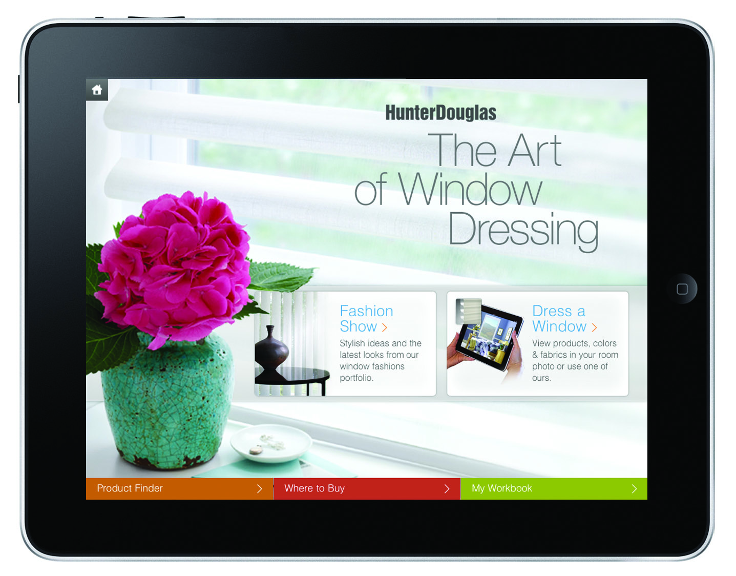 """The Art of Window Dressing"" iPad app from Hunter Douglas"