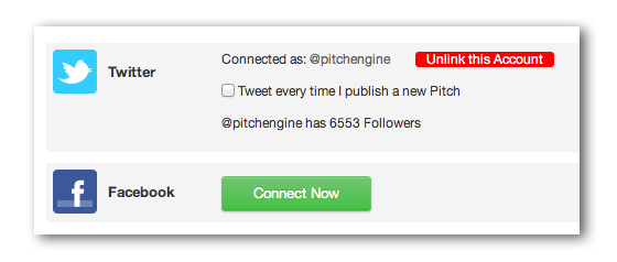 Social Connect on PitchEngine