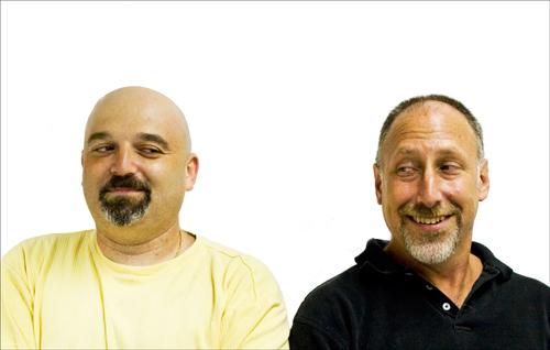 Ross Kimbarovsky, Mike Samson, co-founders of crowdSPRING and customer service bosses to Freddy and Jason
