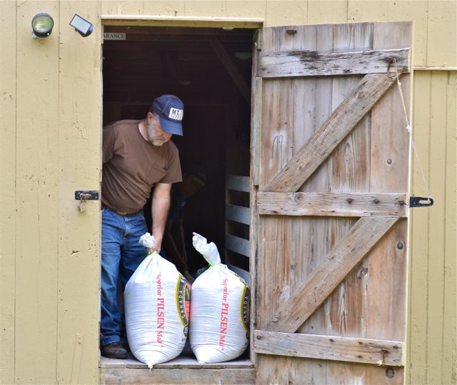 More than 400 pounds of barley were milled at Abbott's Mill near Milford.
