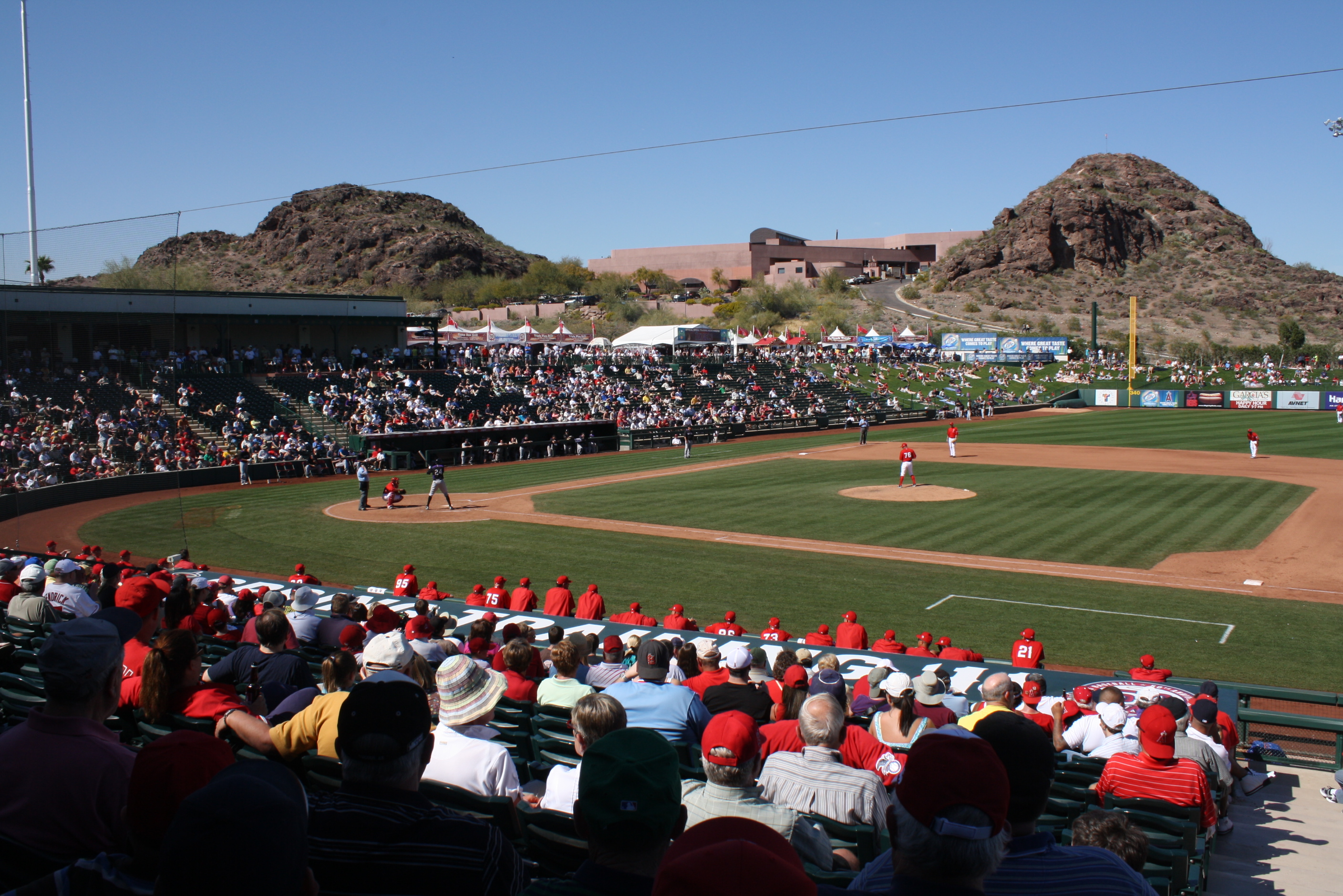 Spring training at Tempe Diablo Stadium