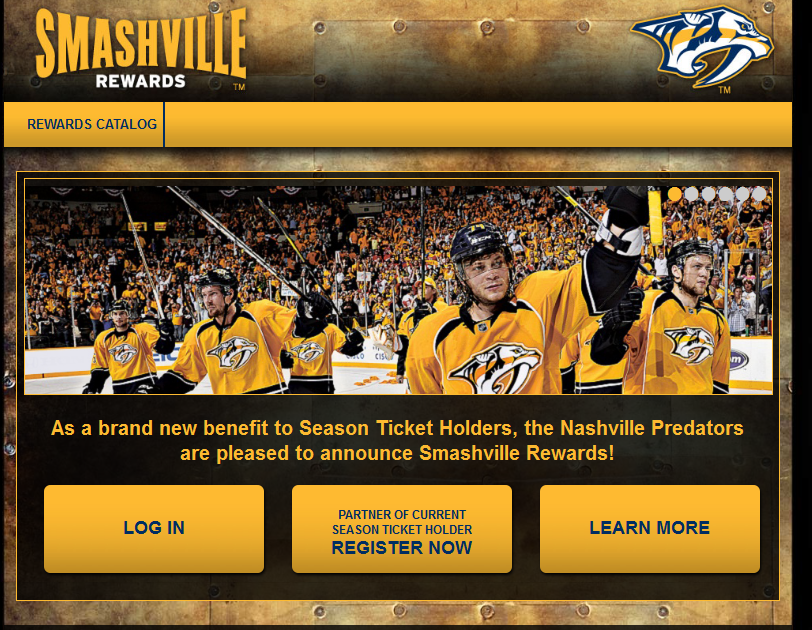 SmashvilleRewards.com home page