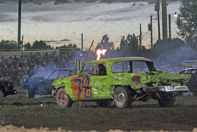 Saturday, August 4 - Demolition Derby 7:30 p.m.