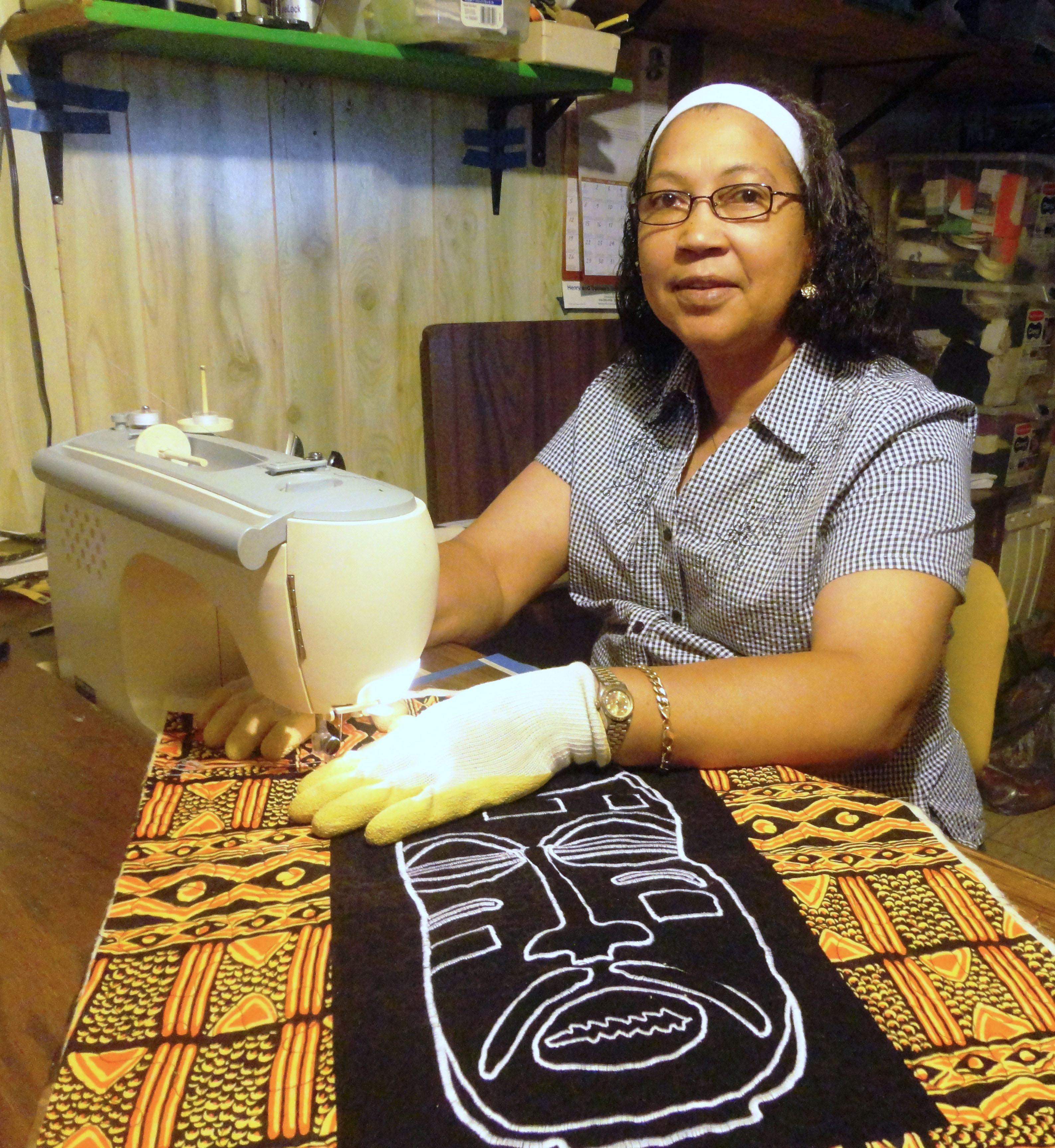 Ethel White of Milwaukee is an African American quilter who specializes in appliqué.