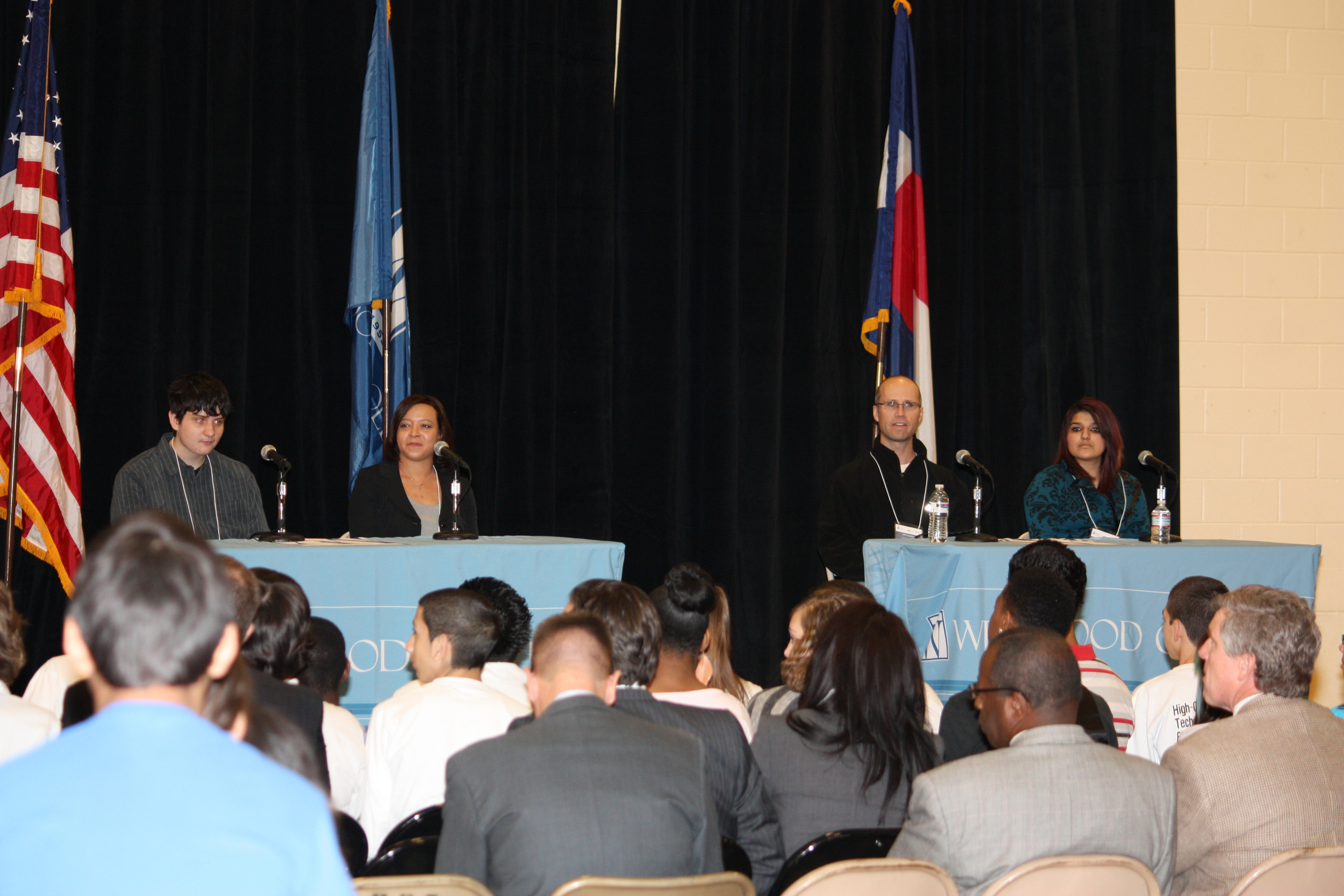 The event featured a student panel discussion including DPS high school students and a Westwood College student and alumni who have chosen to focus their education and careers in technology. Photo by Angela McGurk