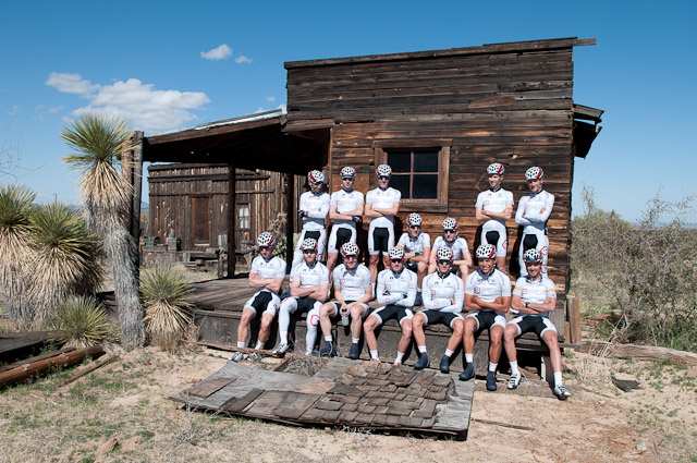 Striking a pose in the Old West. 
