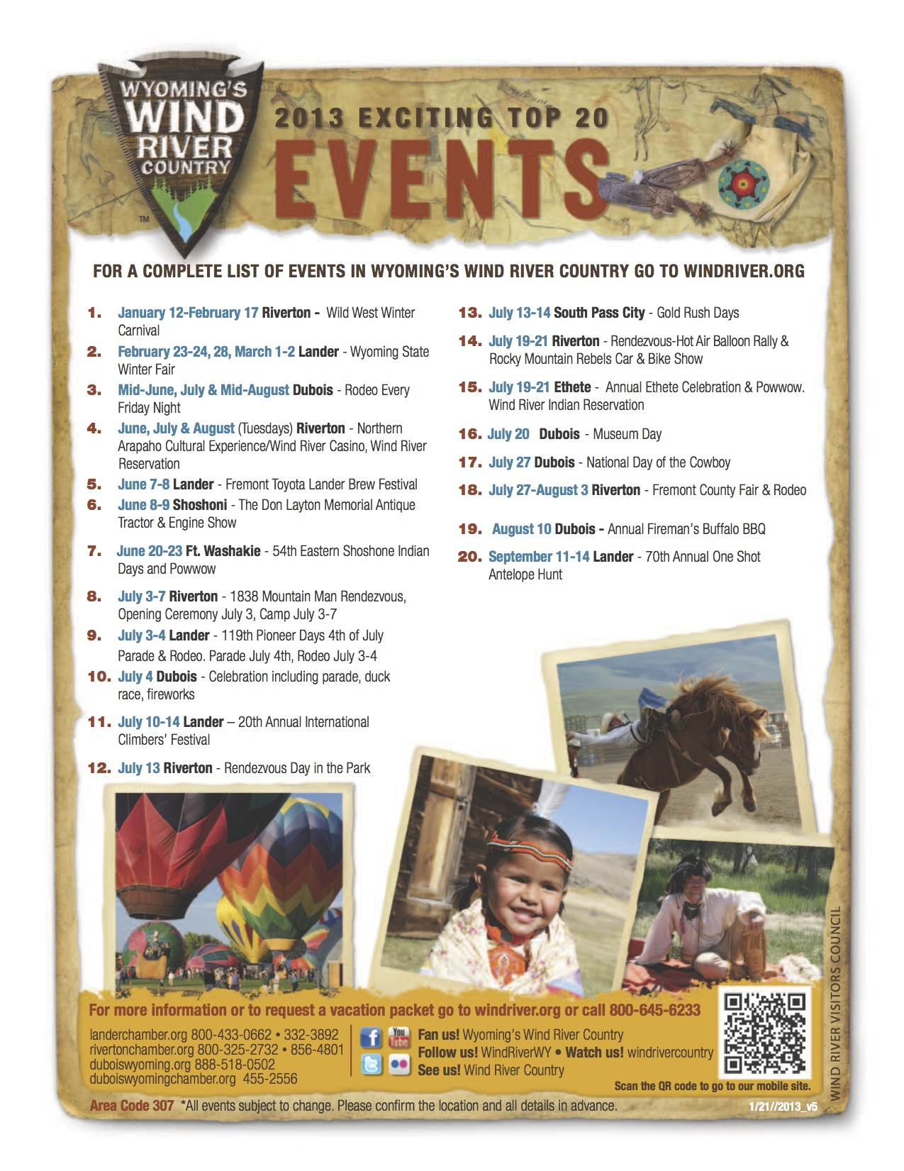 The Top 20 Events in Fremont County 2013.