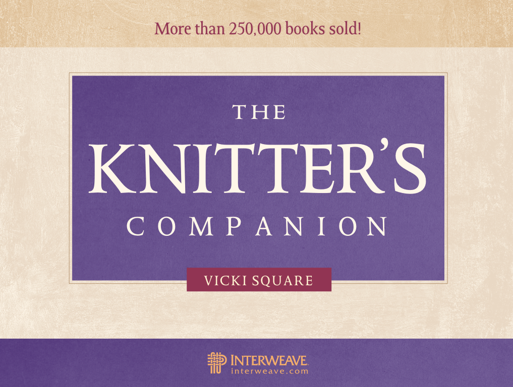 The book cover of the latest edition of The Knitter's Companion by Vicki Square