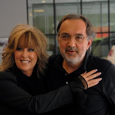 FIAT of Austin's Lisa Copeland with Chrysler Group LLC CEO Sergio Marchionne