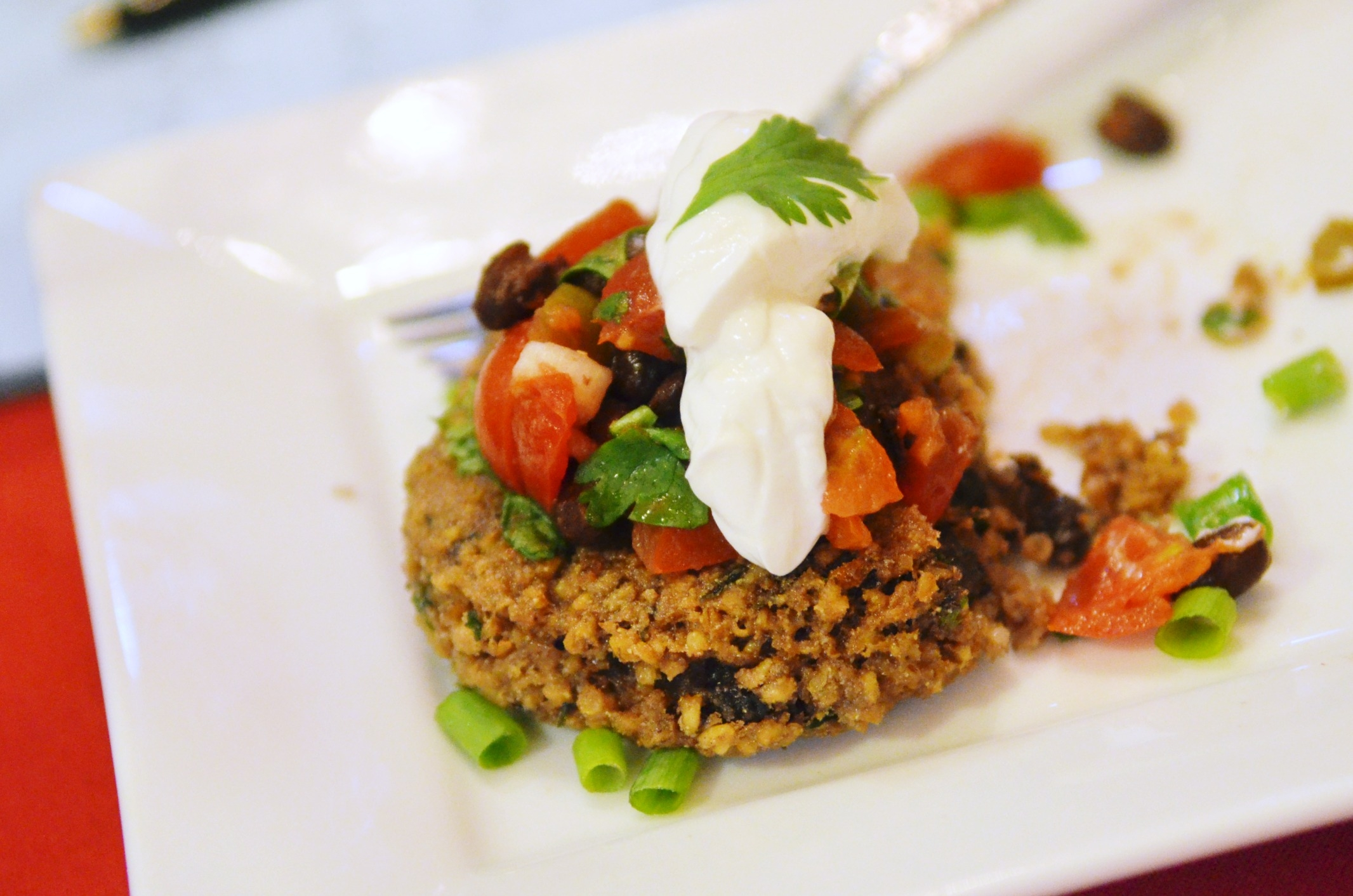 Black Bean Porridge Patties, winner in Bob's Red Mill's Spar for the Spurtle Ultimate Oatmeal Throwdown