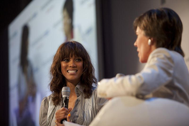 Supermodel and businesswoman Tyra Banks and Fortune Magazine's Patti Sellers discuss Tyra's new digital project at the 2011 Digitas NewFront.