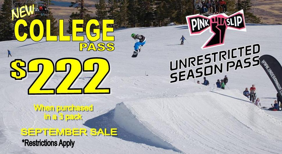 Tahoe local pass blackout dates