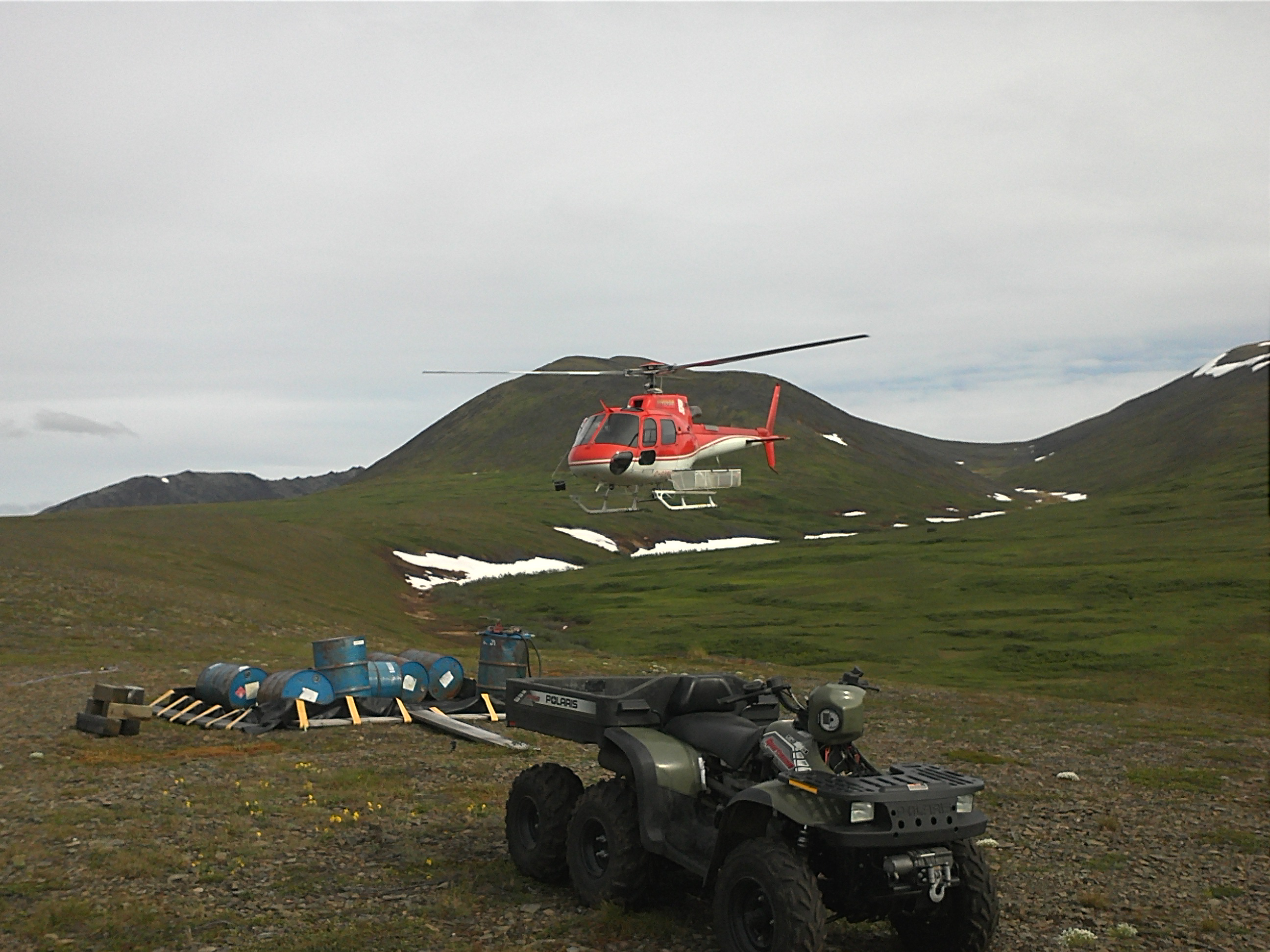 TNR Gold Corp. Camp at Shotgun Gold Project in Alaska.