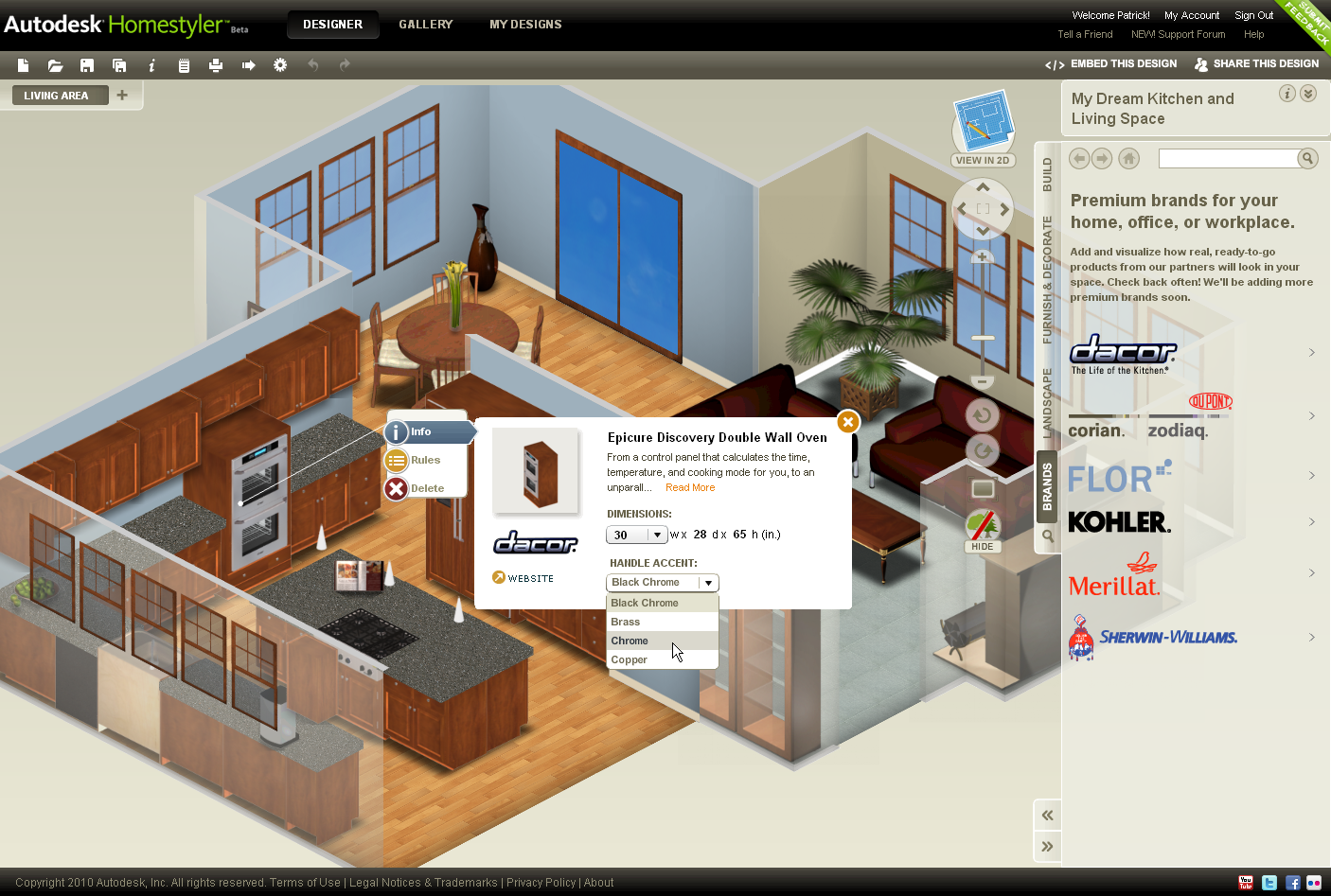Autodesk launches easy to use free 2d and 3d online home Easy house design software