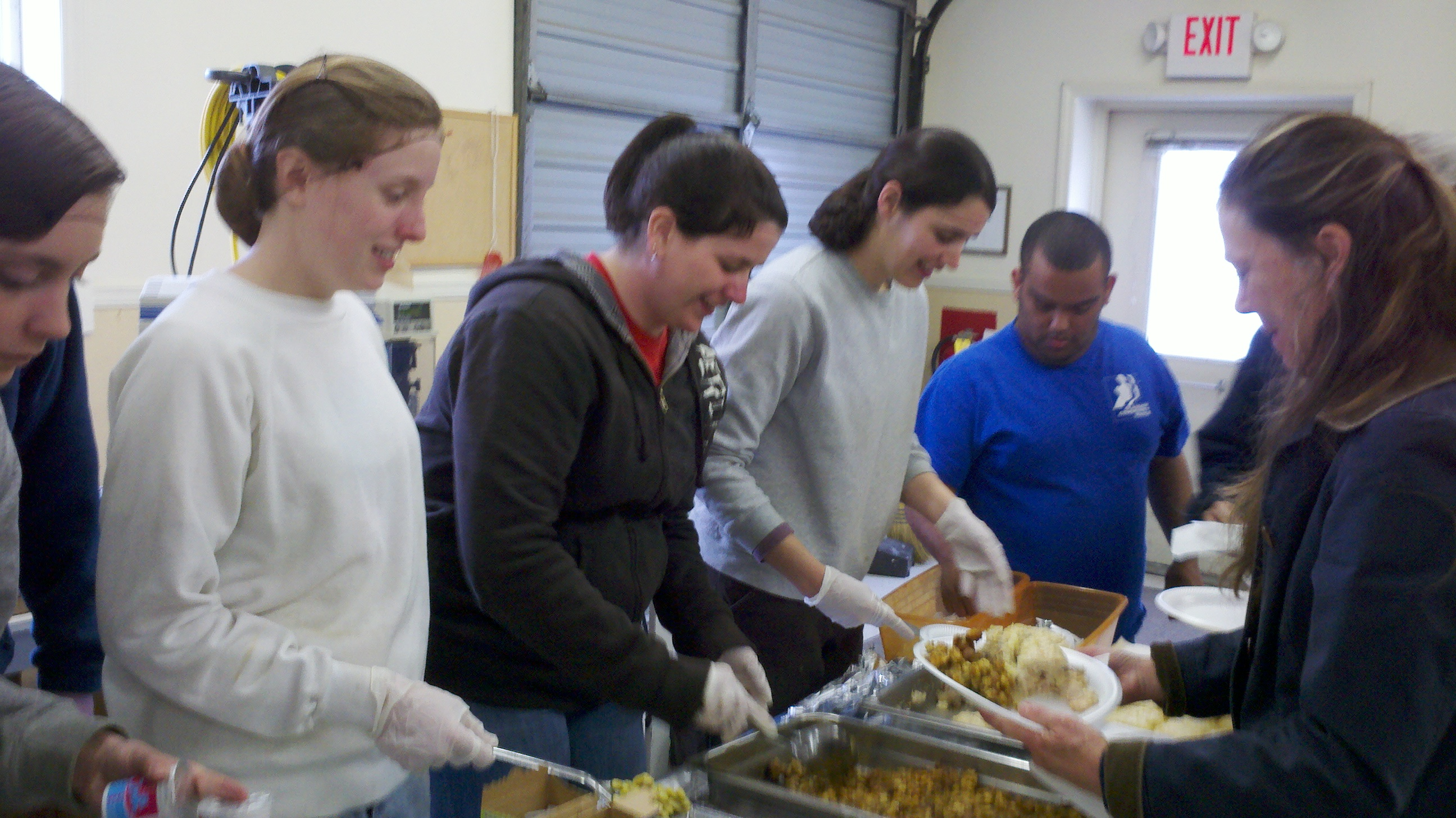 Champlain students serving lunch at the Rockbridge Area Occupation Center. Multiple service activities in one community gives students a chance to make the largest impact in a short amount of time.