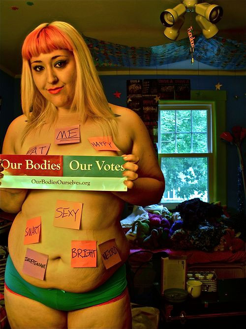 A submission to the Our Bodies, Our Votes campaign. View this and other images on OurBodiesOurVotes.tumblr.com