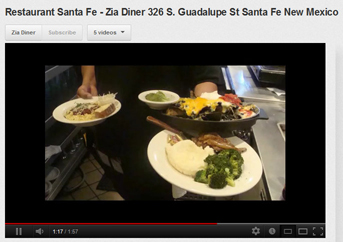 Santa Fe Restaurant Zia Diner Launches YoutubeT Channel to Showcase Menu and Staff June 2012