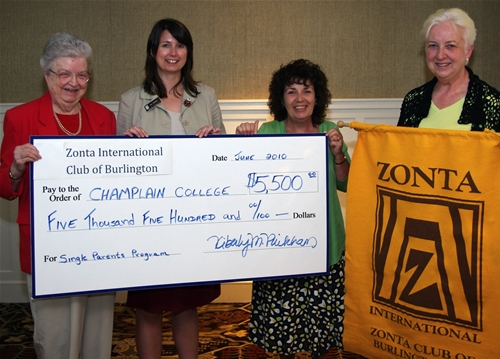 Zonta Club Spelling Bee Raised $5,500 for Champlain's Single Parents Program in 2010