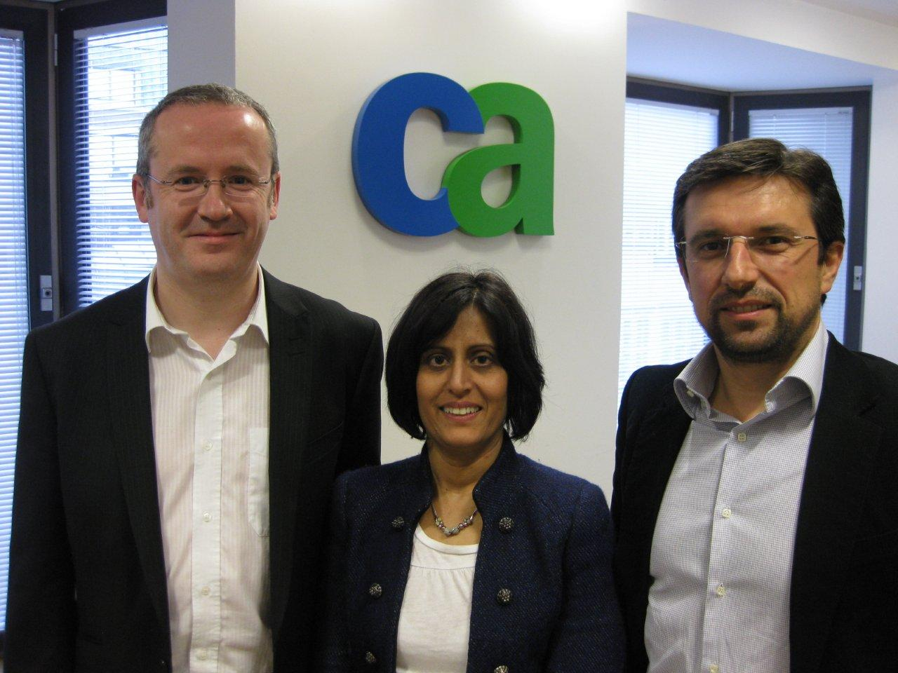 Pictured left to right Chris Rowett, Ritu Mahandru and Paolo Restagno 