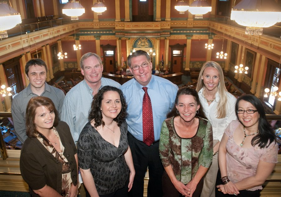 The Martin Waymire team poses for a photo at the Capitol