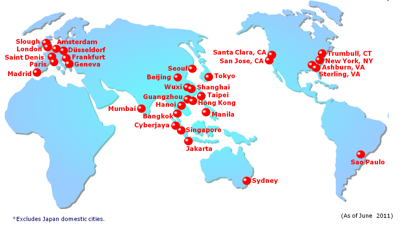 NTT Communications Global Data Center Locations 