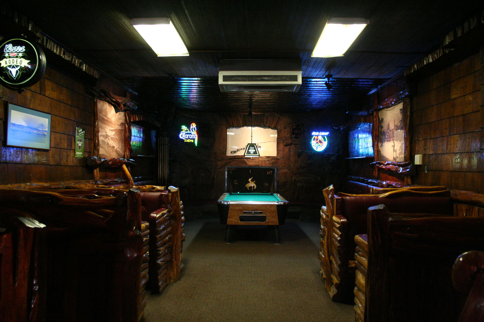 Back room of Mint Bar