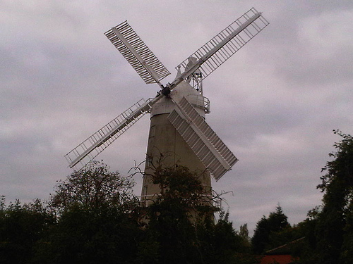 Denver Windmill in Norfolk: pictured when it was in full working order by Mark Pack