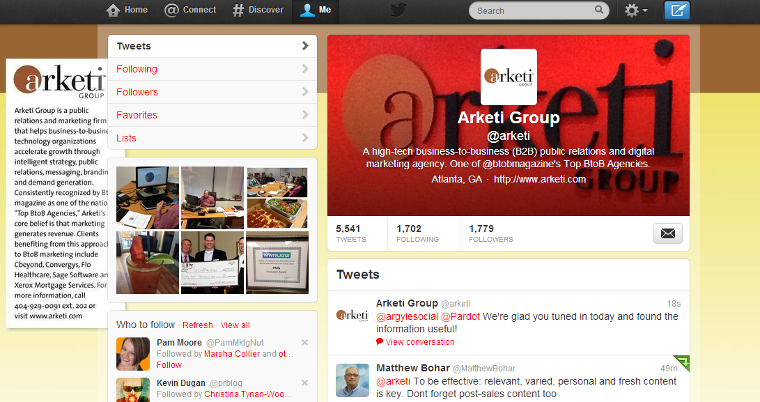 Follow @arketi on Twitter