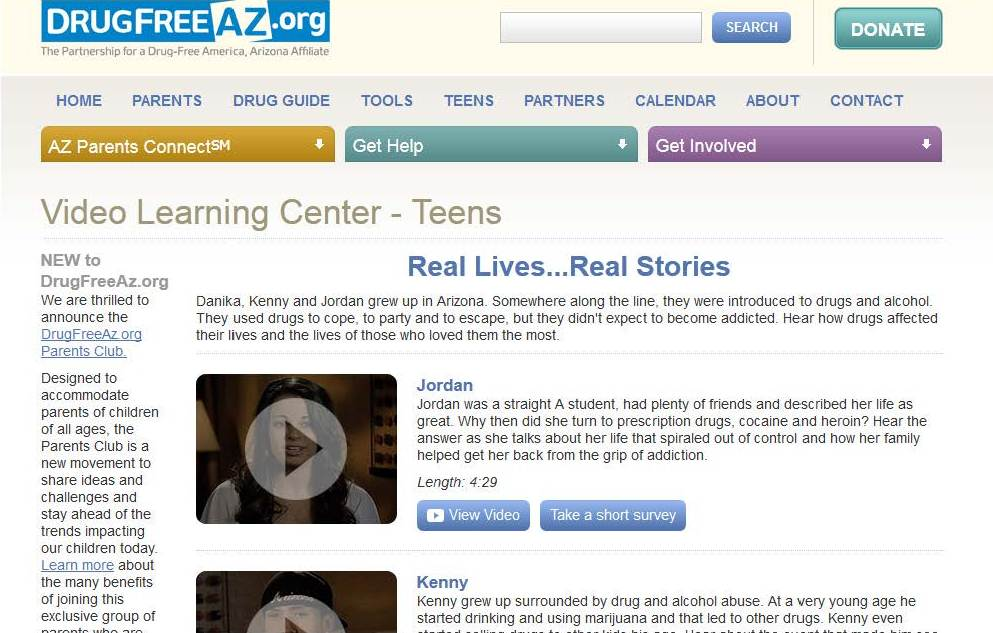 DrugFreeAZ.org unveils new Video Learning Center