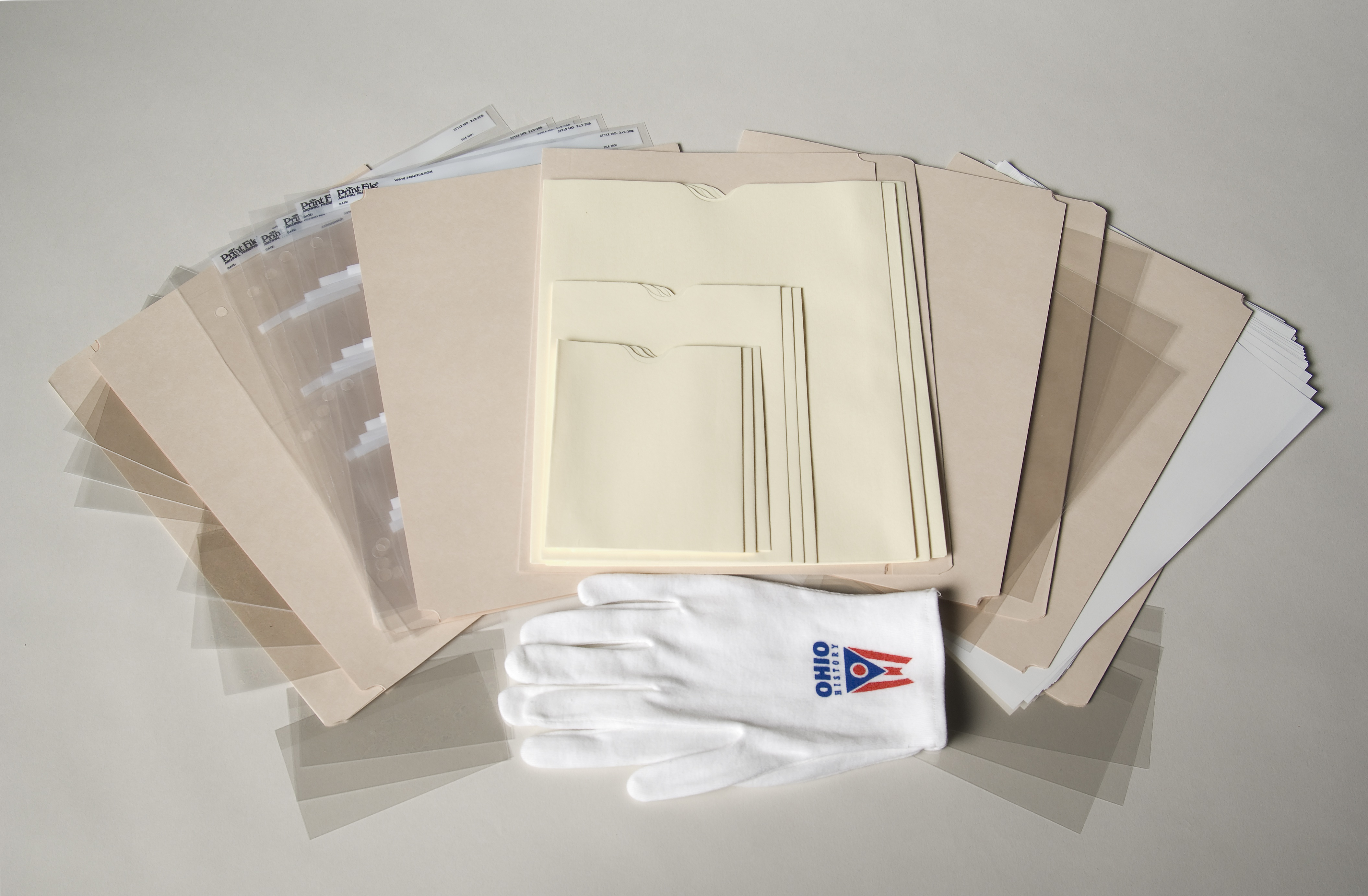 The Family Archival Kit is available for $37.50 at the new Ohio History Store. The kit includes an assortment of the actual archival products that the Ohio Historical Society Collections staff uses to store documents, slides and small paper objects.
