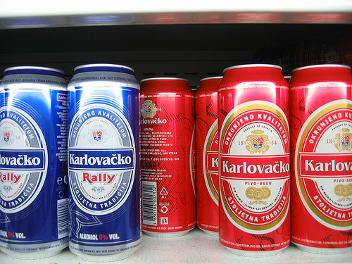 Cans of lager: you shouldn't have more than two per day according to UK health guidelines. Picture by Michael Daines