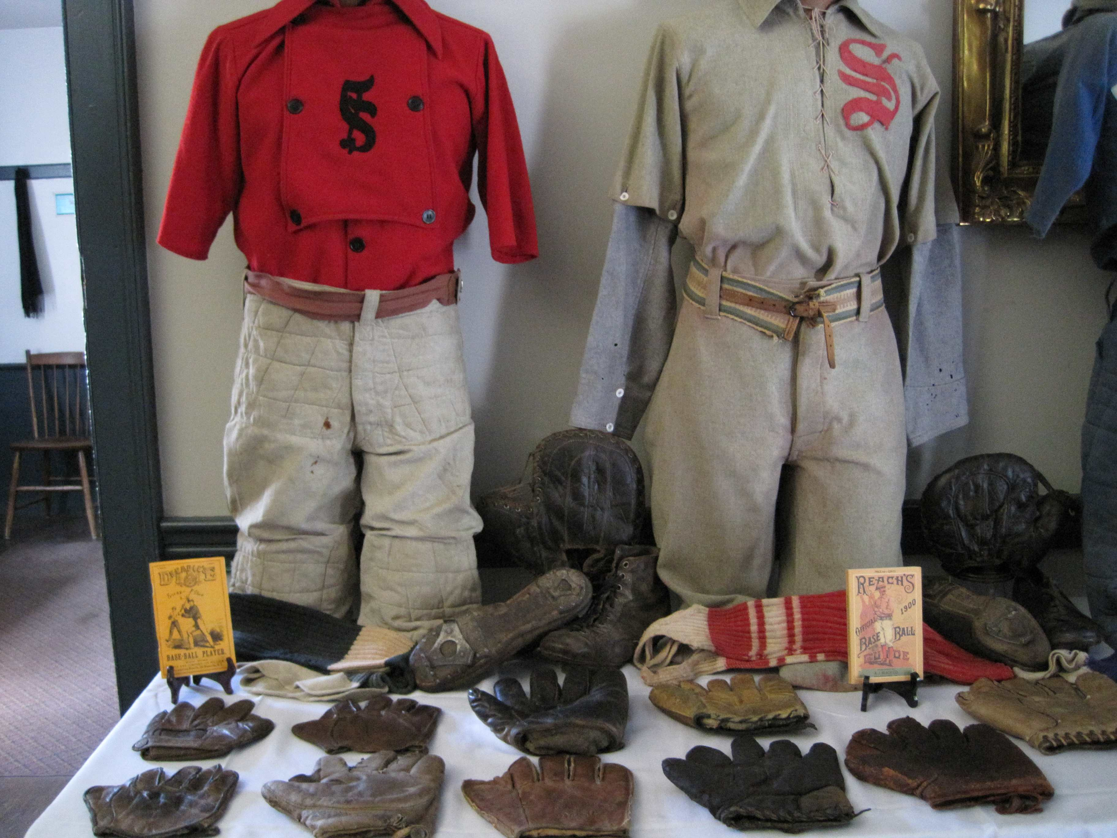 Tracy Martin's collection of vintage base ball equipment and uniforms spanning 150 years, will be part of Ohio Village's Glorious Fourth Celebration.