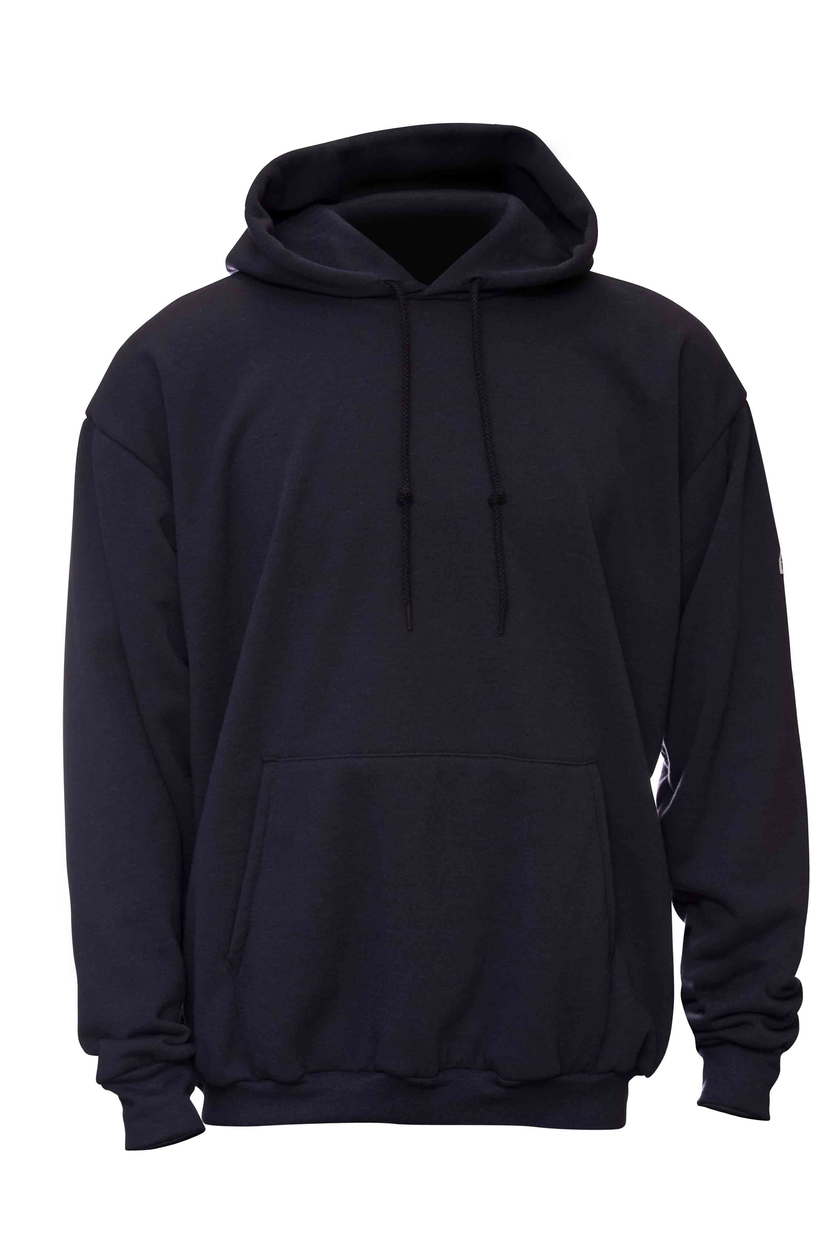 Bulwark Pullover Fleece Hooded Sweatshirt SMH2 - These products are standouts from the most revolutionary flame resistant (FR) layering system on the market - a collaboration between Polartec, the leading manufacturer of performance fabrics, and Bulwark, the world's largest manufacturer of FR apparel. Bulwark's new line of Polartecr FR technical workwear garments focus on superior comfort, worker image, moisture management, and of course - flame resistance. Polartec's line of Polartecr FR fabrics are designed to work together, creating a layering system that has less bulk, better mobility, greater comfort, and more breathability. With the look and soft hand of a classic hooded sweatshirt, the Bulwark Pullover Fleece Hooded Sweatshirt SMH2 is made of Polartecr Thermal FRr fabric which provides inherent flame resistance, superior warmth without weight, high breathability, and quick dry times.