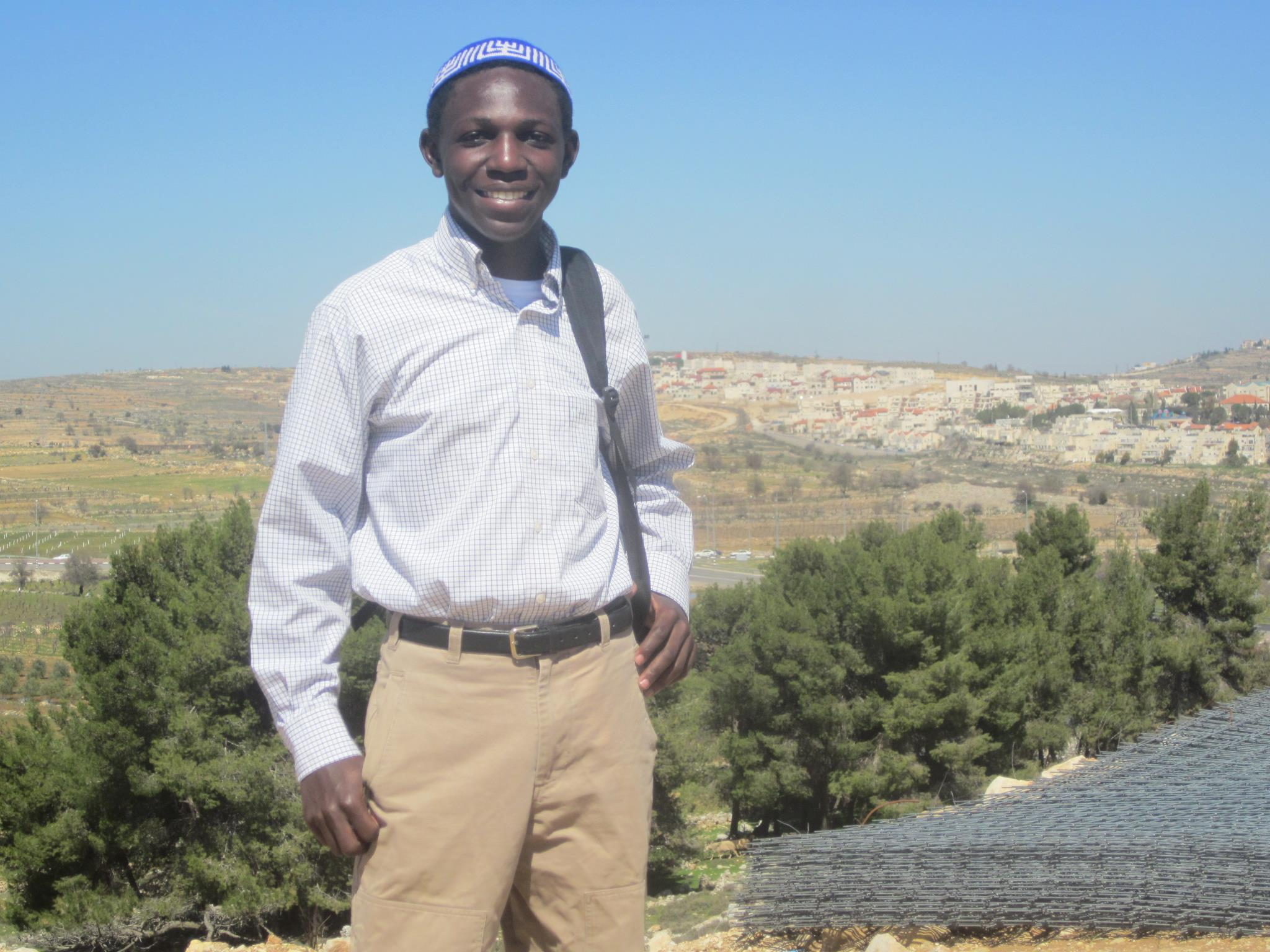 Ugandan, Moshe Madoi, is now studying in Israel and will return to teach and serve as a ritual slaughterer for the 142 other Jews in his village.