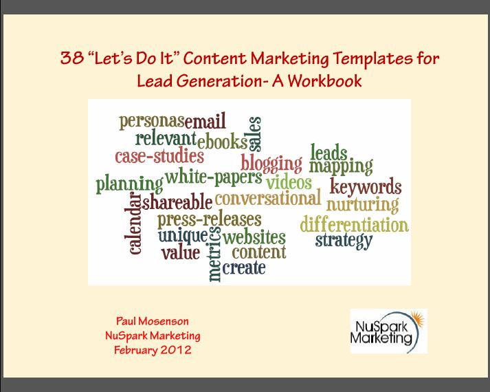 Content Marketing Template eBook
