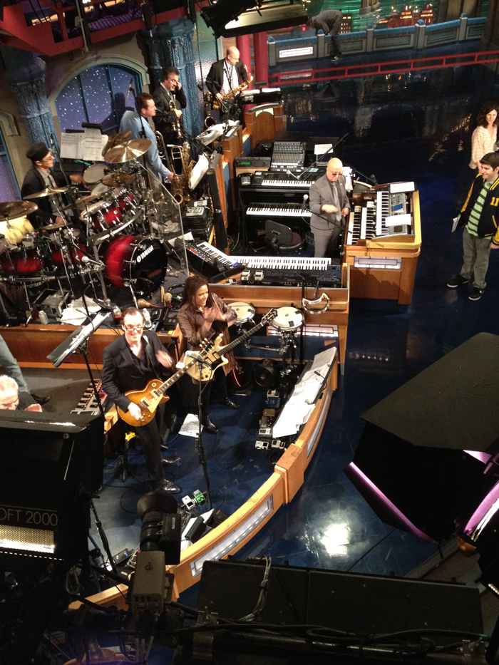 Joe Bonamassa on the David Letterman Show.