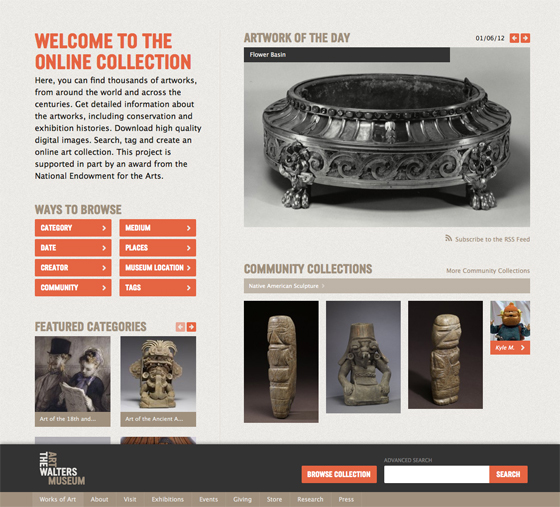 The Walters Art Museum's Works of Art site brings the museum's online collection to life.