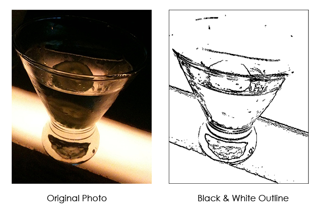 Upload your own photos to convert to a Casart Paint by Color - in black & white outlines
