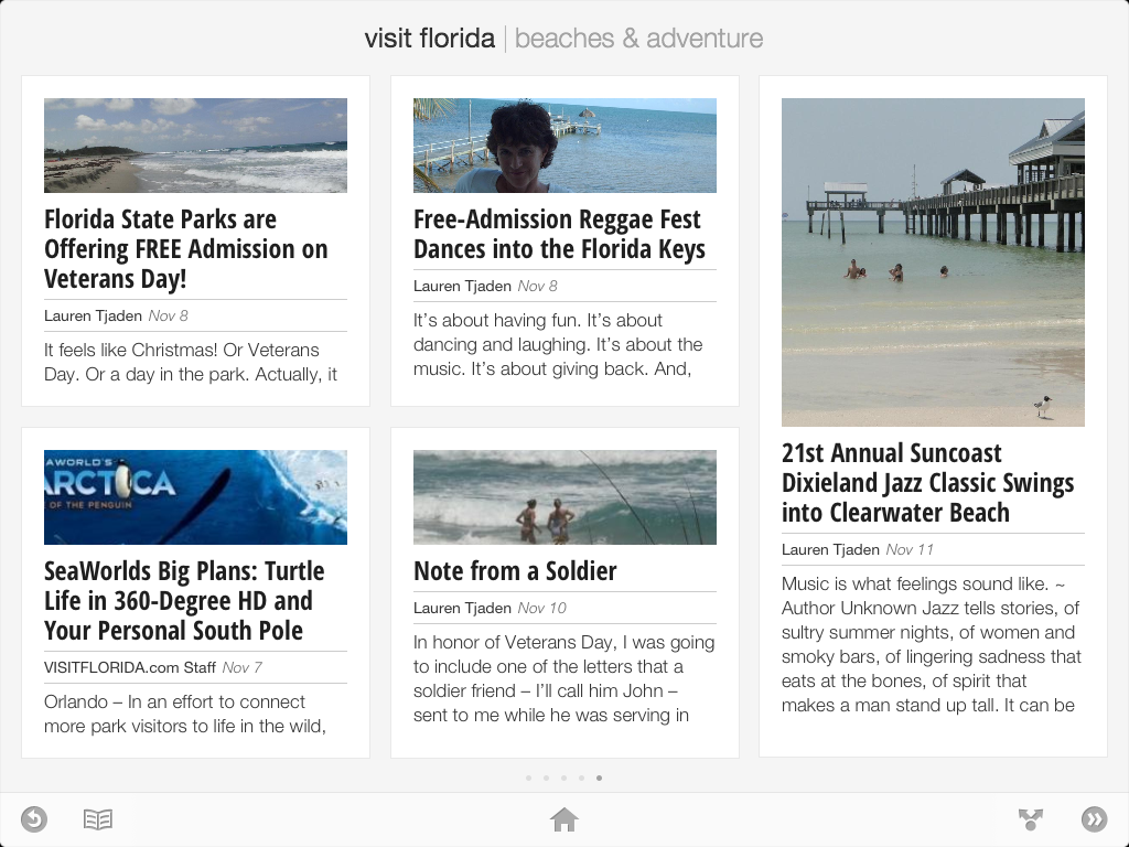 VISIT FLORIDA content on Google Currents