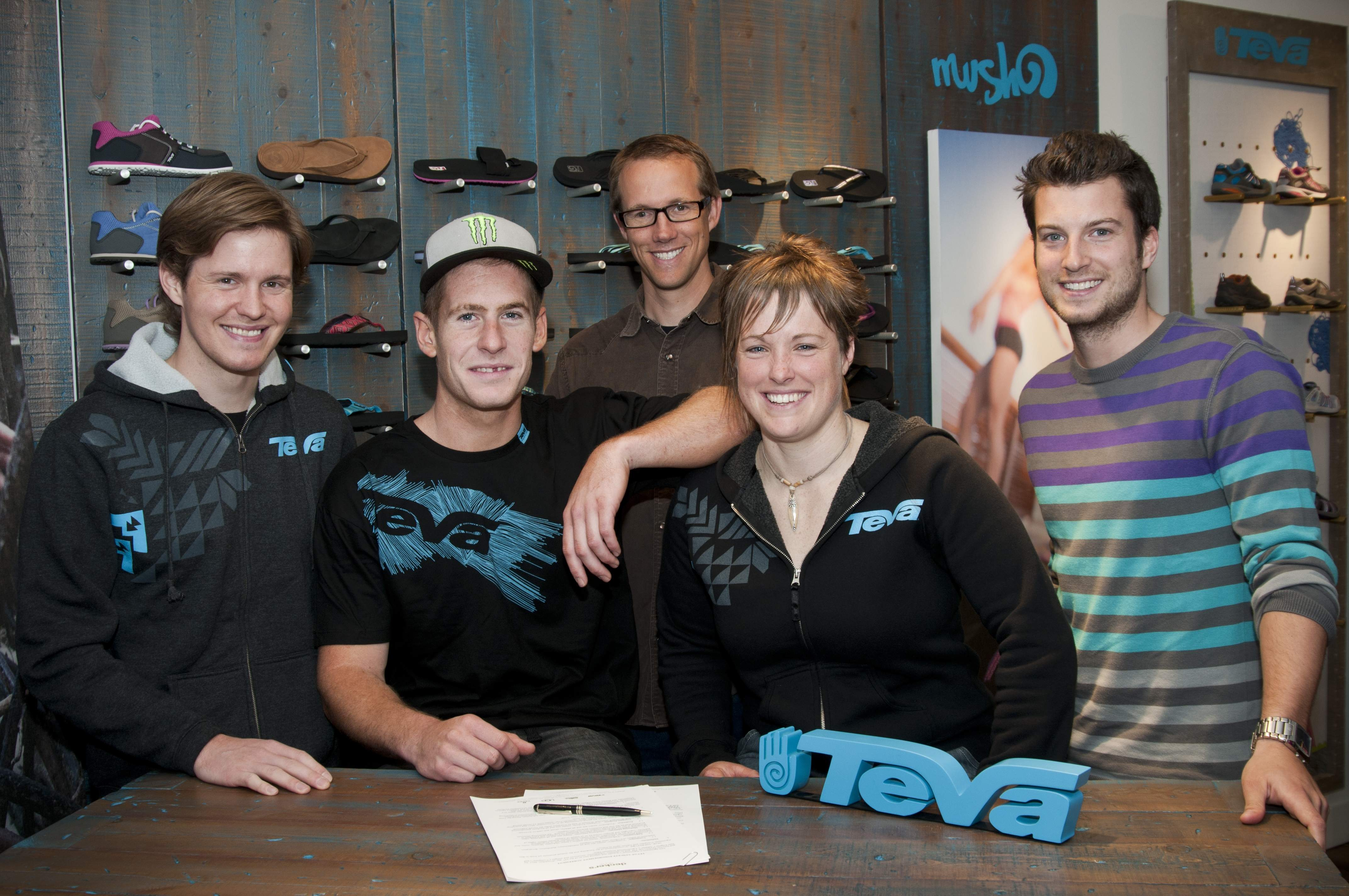 Freerider Sam Pilgrim signed with Teva on Tuesday, October 25.