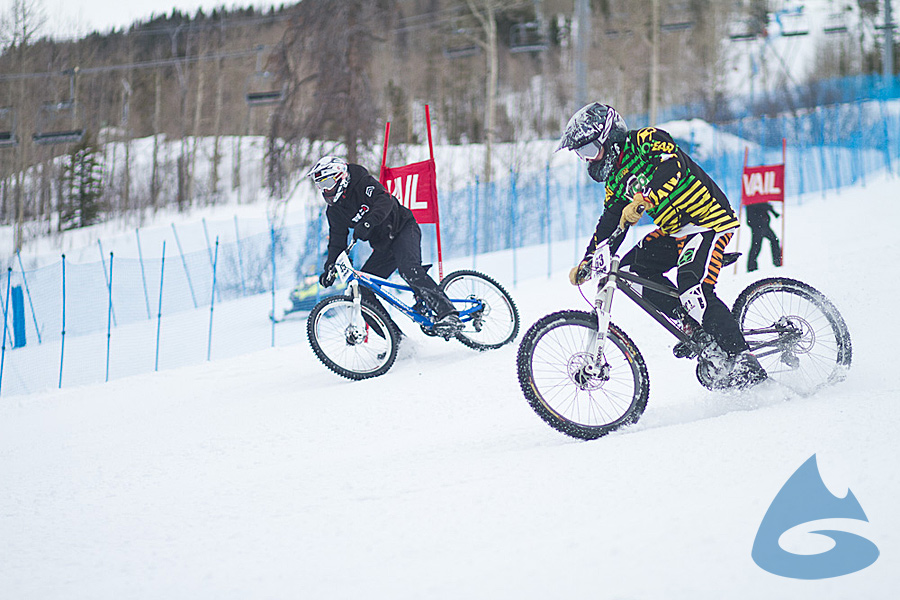 Dual slalom racing at the 2012 Winter Mountain Games