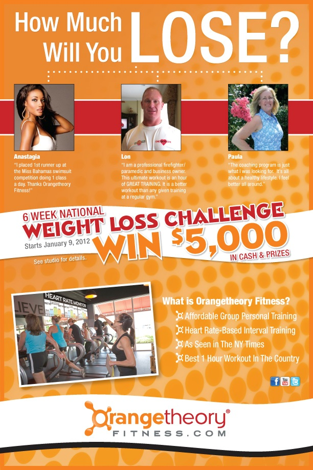 Orangetheory Fitness National Weight Loss Challenge kicks off January 9th.
