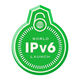 Anyone who would like to show support for the global deployment of IPv6 is encouraged to download and use the World IPv6 Launch badges. Join the cause and spread the word.  Download or embed this launch badge to show your support and raise awareness.