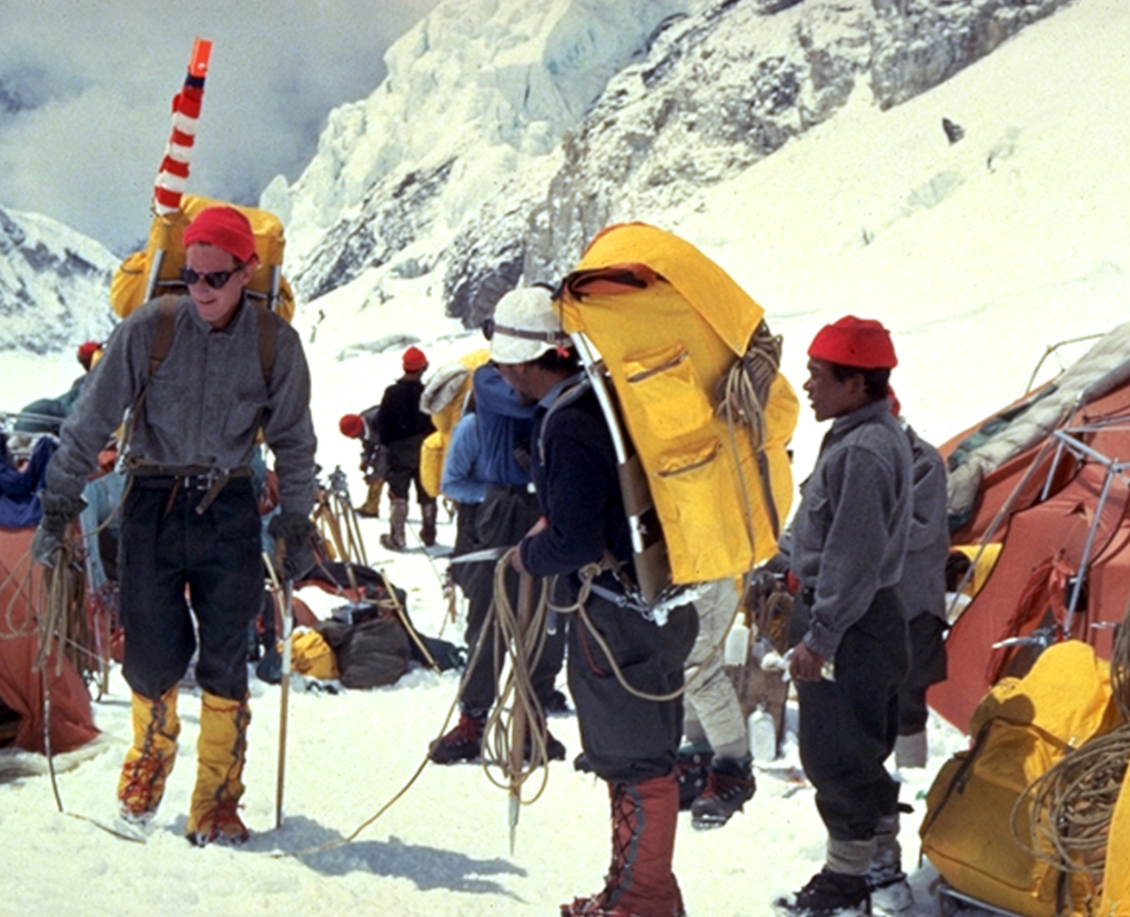 Whittaker and Gombu depart for Everest summit 1963