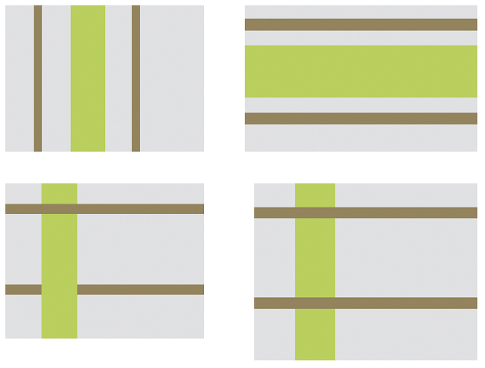 Key Lime and Dark Sand Stripe configuration
