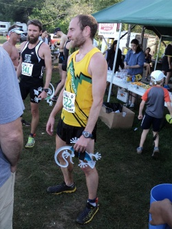 Ryan Woods after winning the Hells Hills 25K in Smithville, Texas.