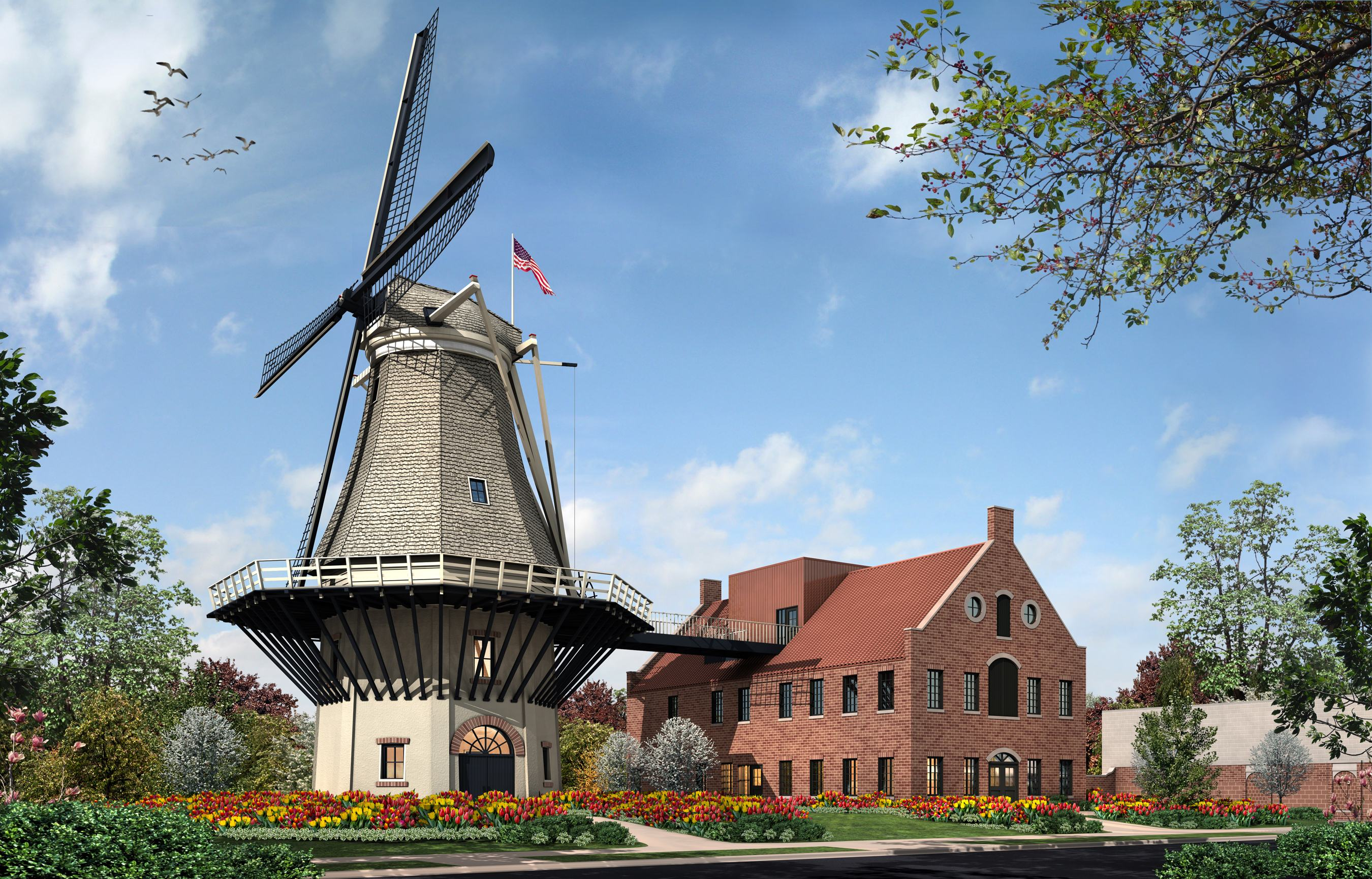 Rendering of Little Chute Windmill, photo courtesy Little Chute Windmill, Inc.